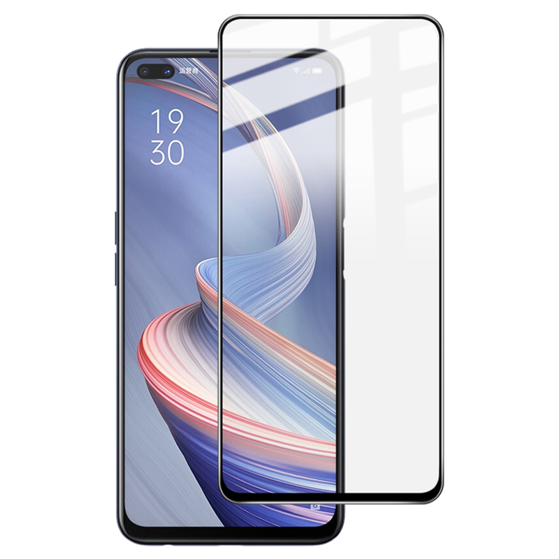 IMAK Pro+ Series Complete Covering AB Glue Tempered Glass Screen Film for Oppo Reno4 Z 5G