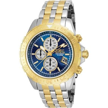 Invicta 18851 Men's Aviator Collection Stainless Steel And Gold Watch