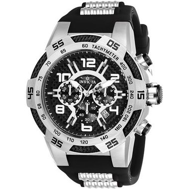 Invicta 24229 Men's Speedway Collection Steel And Black Watch