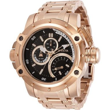 Invicta 30381 Men Coalition Forces Collection Rose Gold Band Black, Rose Gold Dial 52.5mm Stainless Steel Watch