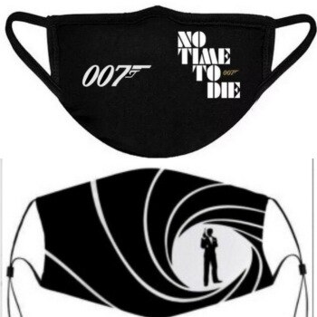 James Bond 007 Face Masks No Time To Die New Film Mouth Covering With Filter