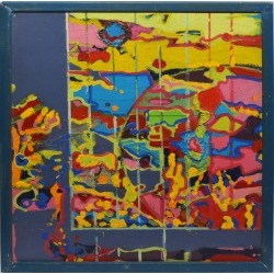 James Edward Jones, Vintage Abstract Composition, Oil Painting by James Edward Jones, 1980