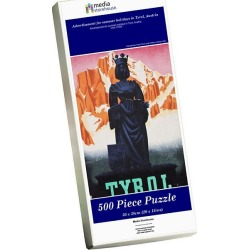 Jigsaw Puzzle. Advertisement for summer holidays in Tyrol, Austria
