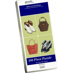 Jigsaw Puzzle. Boots and Handbags