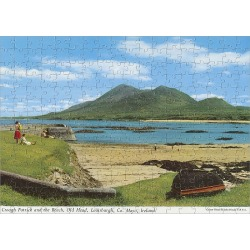 Jigsaw Puzzle. Croagh Patrick and the Beach, Old head, Louisburgh, Co Mayo