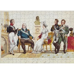 Jigsaw Puzzle. French Royal Family in 1814. The Count of Artois