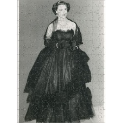 Jigsaw Puzzle. HRH Princess Margaret in a black Dior Dress