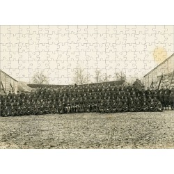 Jigsaw Puzzle. No.2 Squadron on a German aerodrome in 1918