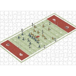 Jigsaw Puzzle. Teams on Canadian football pitch