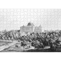 Jigsaw Puzzle. U.S. CAPITOL, 1848. West view of the United States Capitol