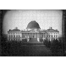 Jigsaw Puzzle. U.S. CAPITOL, c1846. View of the east front elevation of the United States Capitol in Washington