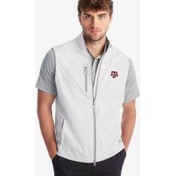 johnnie-O Texas A&M University Crest 2-Way Zip Front Wind Vest