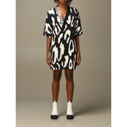 Just Cavalli Dress Just Cavalli V-shaped Dress With Animal Print