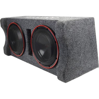 """Kenwood P-XW1221DHP Excelon Series Ported Enclosure With Two 12"""" Subwoofers"""