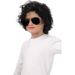 Kid's Curly Michael Jackson Wig - Michael Jackson by Spirit Halloween