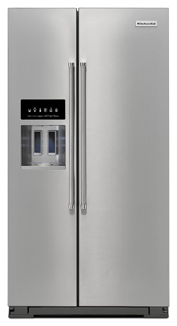 KitchenAid® 24.8 Cu. Ft. Standard Depth Side-by-Side Refrigerator with Exterior Ice and Water