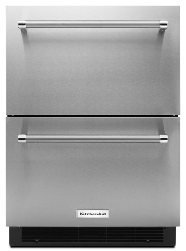 "KitchenAid® 24"" Stainless Steel Double Refrigerator Drawer"