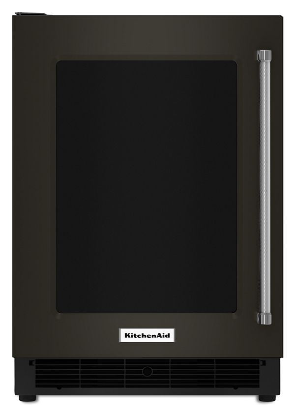 "KitchenAid® 24"" Undercounter Refrigerator with Glass Door and Metal Trim Shelves"