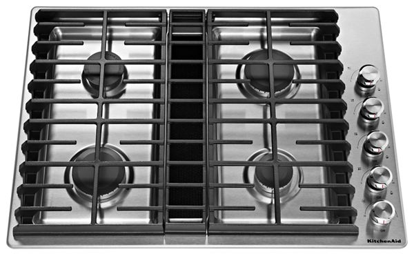 "KitchenAid® 30"" 4 Burner Gas Downdraft Cooktop"
