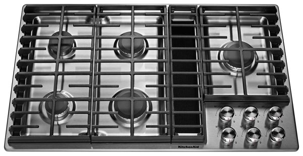"KitchenAid® 36"" 5 Burner Gas Downdraft Cooktop"