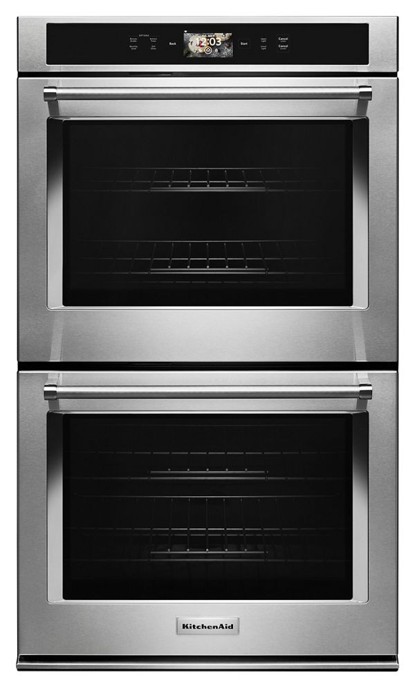 "KitchenAid® Smart Oven+ 30"" Double Oven with Powered Attachments"