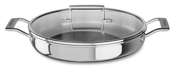 KitchenAid® Tri-Ply Stainless Steel 3.5-Quart Braiser with Lid