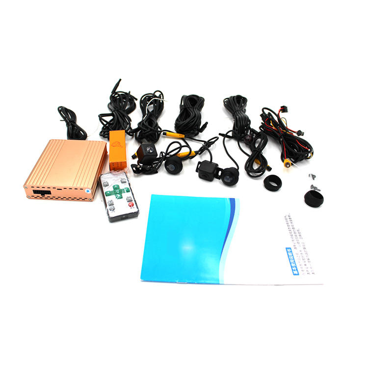 Krando 1080P Car Universal Super HD 360 Degree bird View System Panoramic View All round Camera with DVR driving Surroun