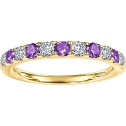 LaFonn Gold Plated February Amethyst Birthstone Band Ring at Nordstrom Rack