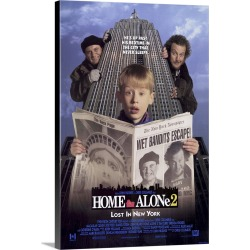 Large Solid-Faced Canvas Print Wall Art Print 20 x 30 entitled Home Alone 2 Lost in New York (1992)
