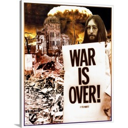 Large Solid-Faced Canvas Print Wall Art Print 24 x 30 entitled John Lennon War Is Over