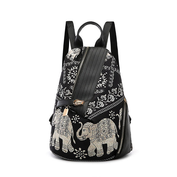Leisure Print Multi-function Travel Anti-theft Backpack