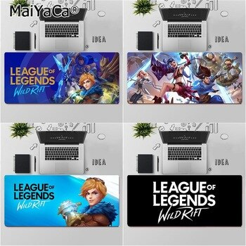 MaiYaCa Top Quality League of Legends Wild Rift Durable Rubber Mouse Mat Pad Free Shipping Large Mouse Pad Keyboards Mat