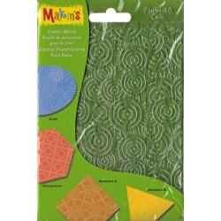 Makin's Clay Texture Sheets 7 inches X5.5 inches 4/Pkg - Set H (Coils, Connectors, Abstract A