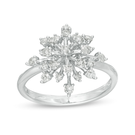 Marilyn Monroe™ Collection 0.50 CT. T.w. Diamond Starburst Ring in 10K