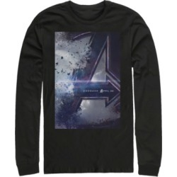 Marvel Men's Avengers Endgame Release Date Poster, Long Sleeve T-shirt