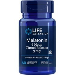 Melatonin 6 Hour Timed Release 60 Vcaps by Life Extension