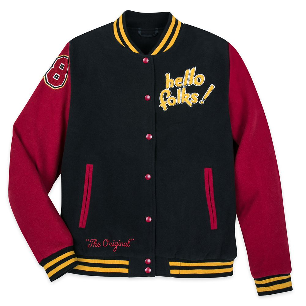 Mickey Mouse and Pluto Varsity Jacket for Adults Official shopDisney