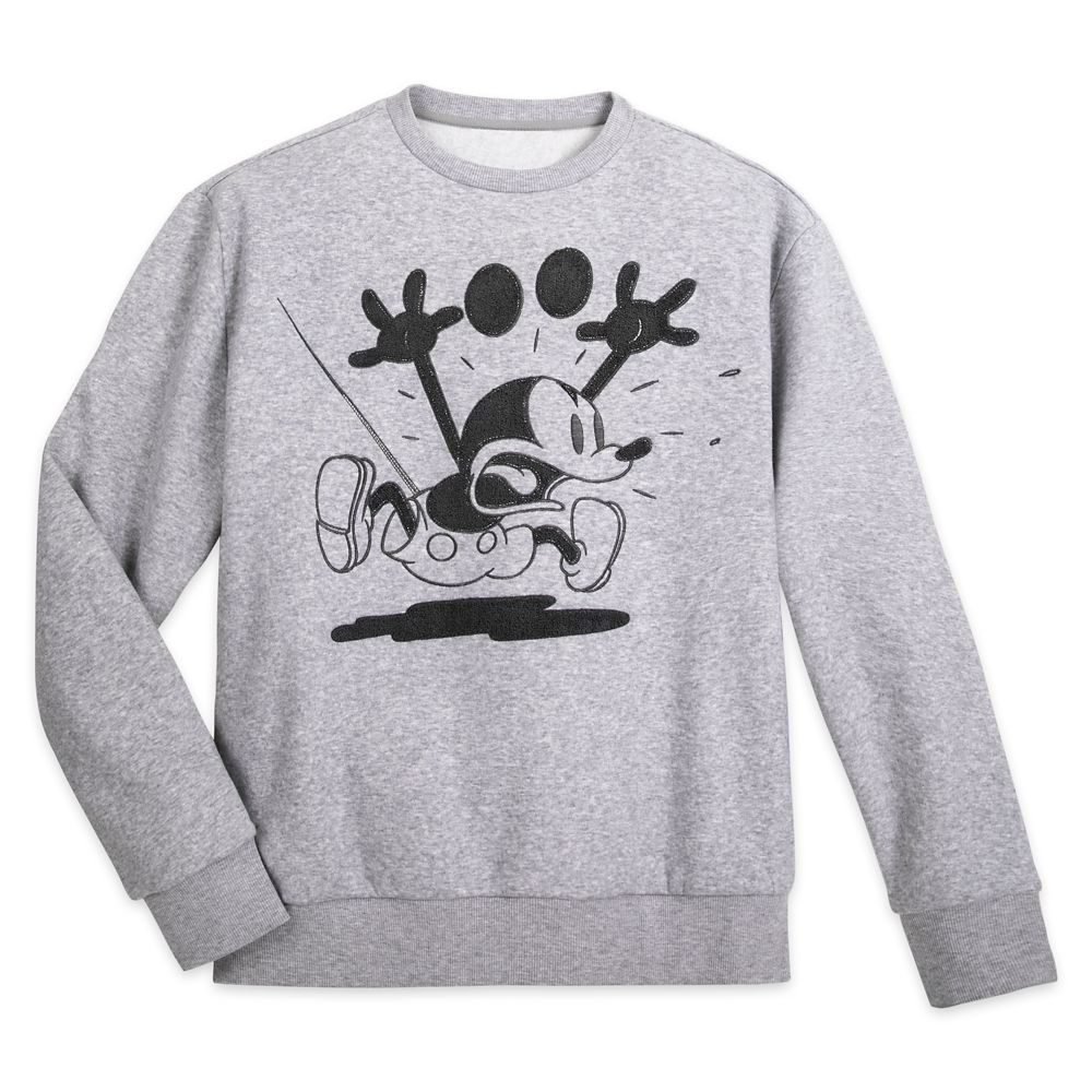 Mickey Mouse Grayscale Fleece Pullover for Adults Official shopDisney