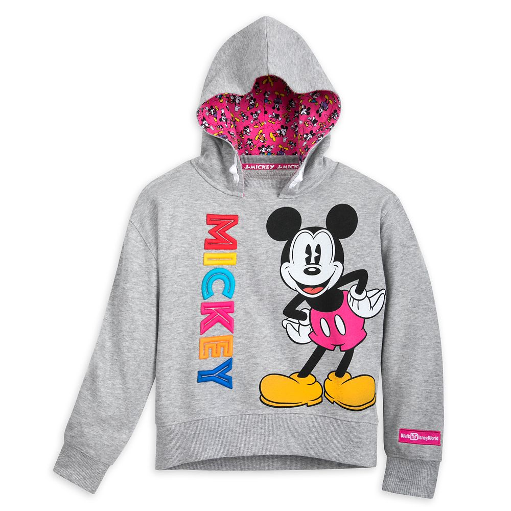 Mickey Mouse Hooded Pullover Top for Girls Walt Disney World