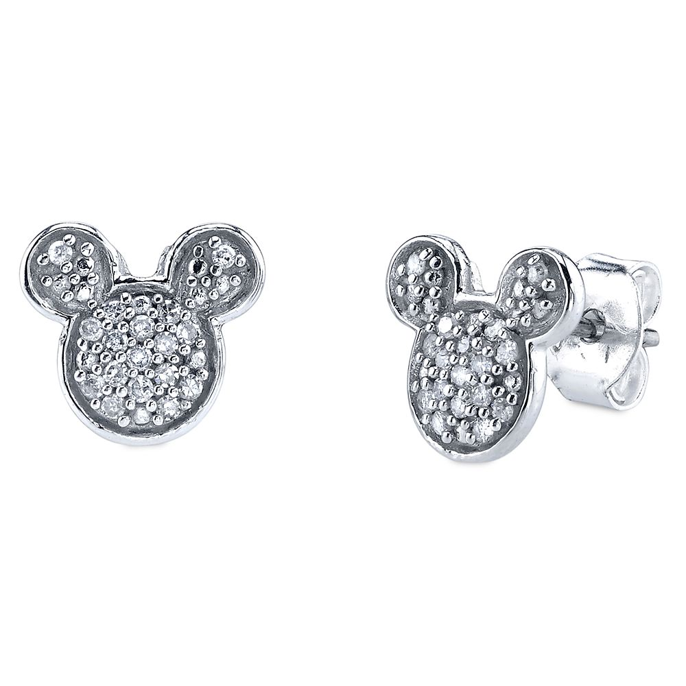 Mickey Mouse Icon Diamond Earrings Official shopDisney