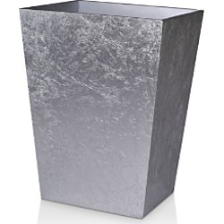 Mike and Ally Eos Silver Leaf Wastebasket
