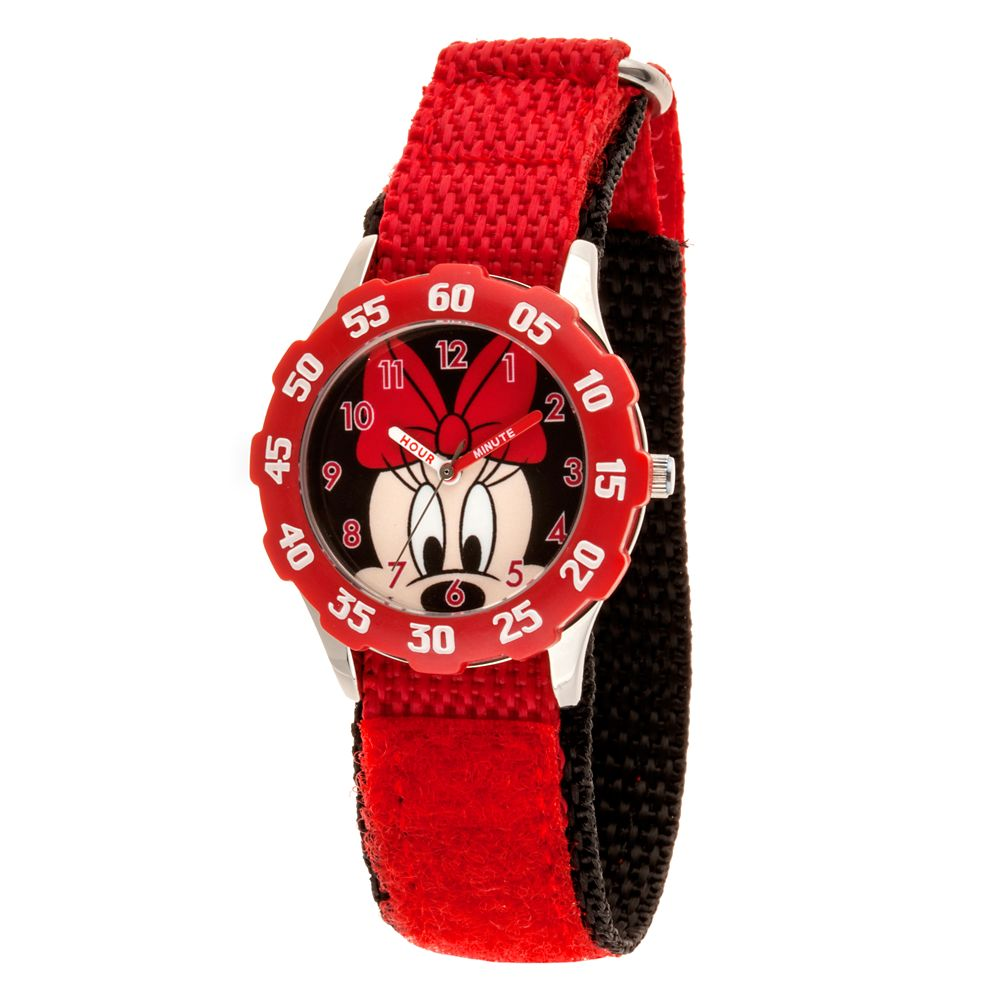 Minnie Mouse Stainless Steel Time Teacher Watch Kids Official shopDisney