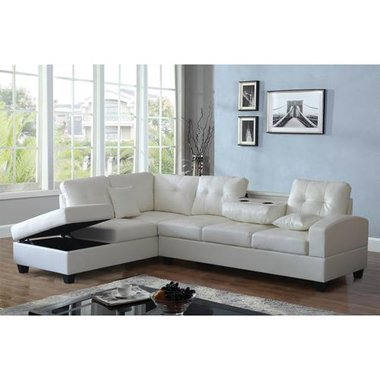 Montecatini MSEC002 Gloria White Sectional Right Arm Facing