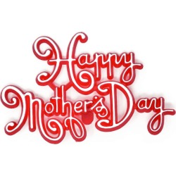 """Mother�s Day OASIS Floral Picks - 4"""" Happy Mother's Day Red - 12/Pack"""