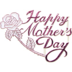 """Mother�s Day OASIS Floral Picks - 5"""" Happy Mother's Day with Rose- 12/Pack"""