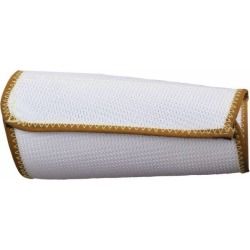 """National Safety Apparel 7"""" C/r Wht Med 2-ply Poly Mesh Wristlet S"""
