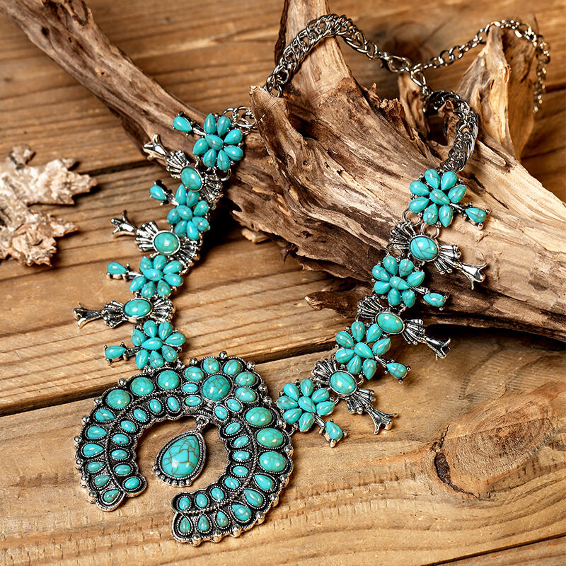 Necklaces Bohemian Turquoise Maxi Necklace in #1. Size: One Size