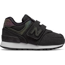 New Balance Infant 574 Hook and Loop Shoes Black