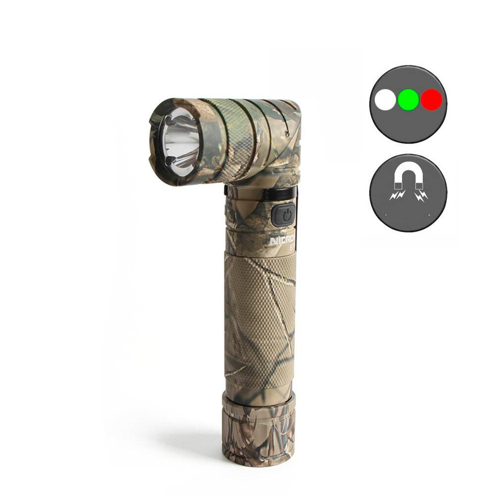 NICRON B70 Plus 18650 Battery Flashlight USB Charging LED Work Light Outdoor Camping Hunting Emergency Lantern
