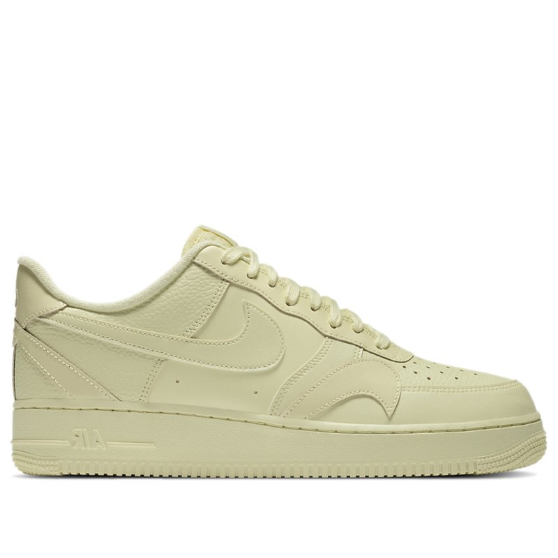 Nike Air Force 1 Low 'Misplaced Swoosh - Pale Yellow' Pale Yellow/Pale Yellow/Pale Yellow Sneakers/Shoes CK7214-700 (Size: US 7.5)
